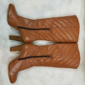 Ted Baker London Tan Below the Knee High Heel Boot